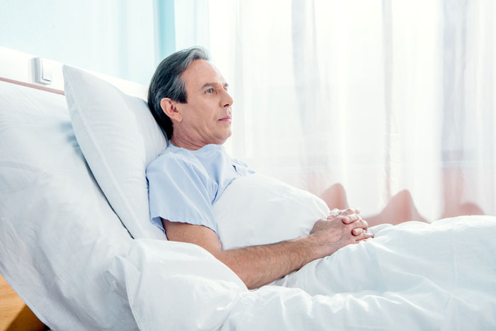 man diagnosed with long term disability contemplating future